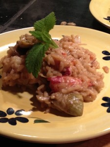 Lobster and baby artichoke risotto